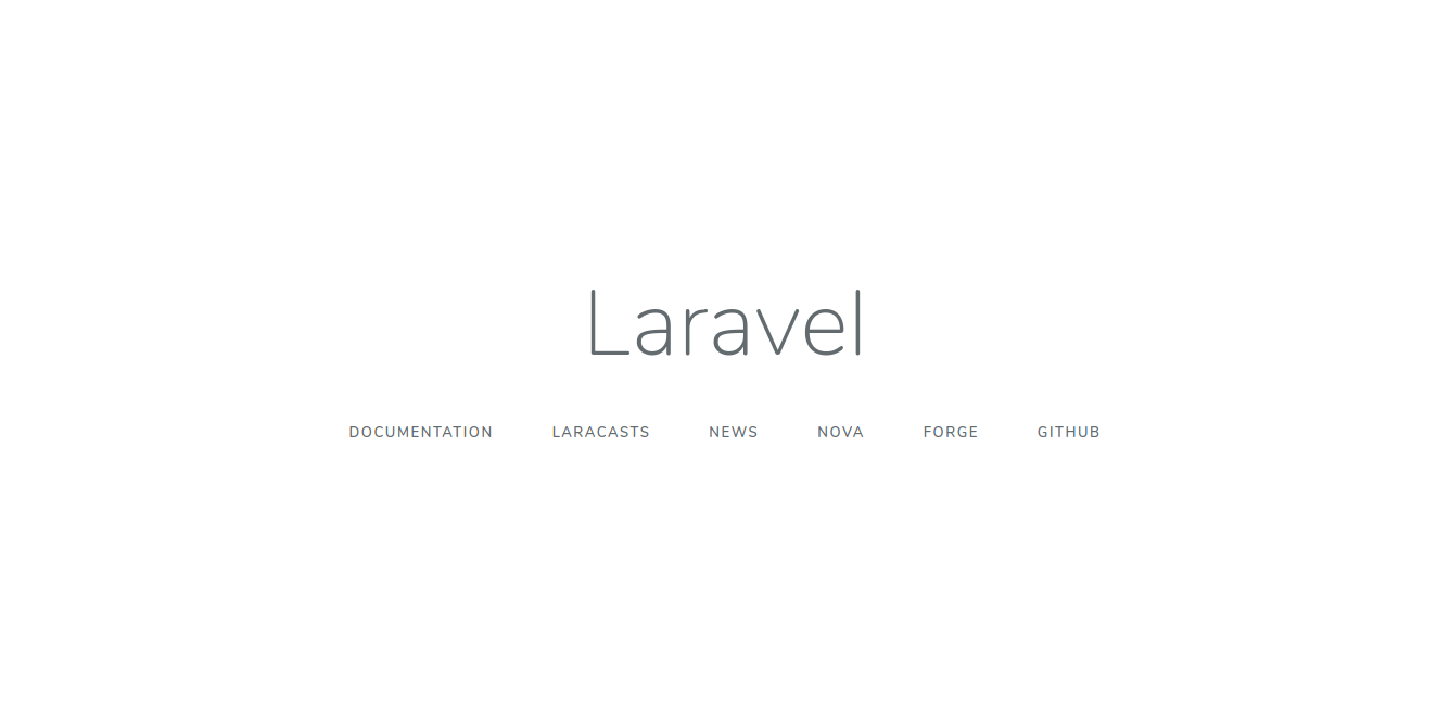 New Laravel App